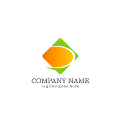 square loop business company logo vector image