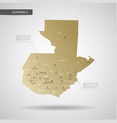 stylized guatemala map vector image