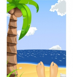 summer beach scene vector image