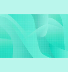 tender green and blue wavy background vector image