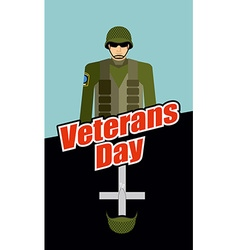 Veterans Day Soldiers and Tomb Patriotic vector