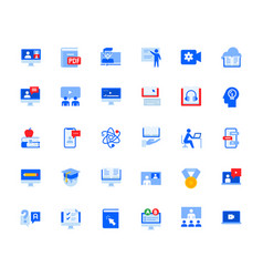 video call and online meeting icons set vector image