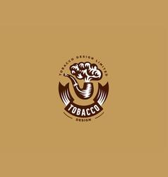 vintage emblem pipe vector image