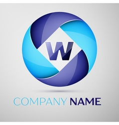 W letter colorful logo in the circle template for vector