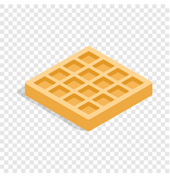 Waffles isometric icon vector