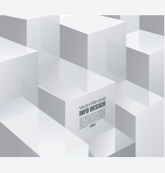 White cubes with text information vector