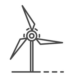 wind turbine icon outline style vector image