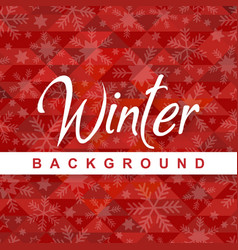 Winter background red snowflake image vector