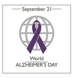 World Alzheimers Day vector image