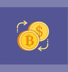 bitcoin digital gold exchange concept icon vector image vector image