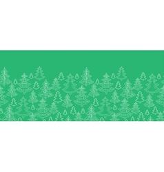 Doodle Christmas trees horizontal seamless pattern vector image
