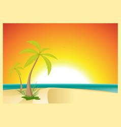 exotic beach postcard vector image vector image