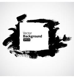 ink grunge hand drawn frame vector image vector image