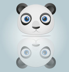 panda head isolated on blue background vector image vector image