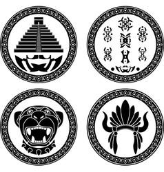 set of mayan signs vector image