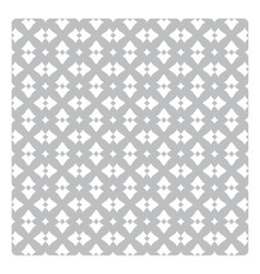 Vintage pattern with white decorations on grey vector