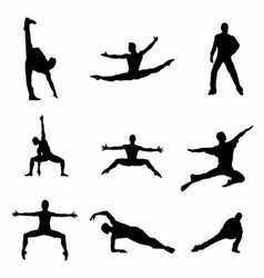 Dancing man silhouette download vector