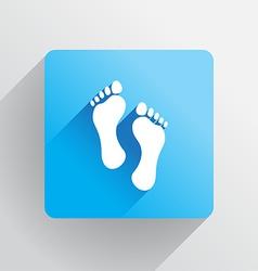 Human footprints vector image vector image