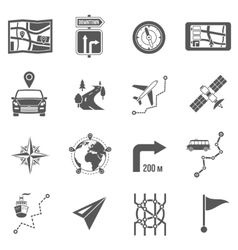 Map Icons Black vector image