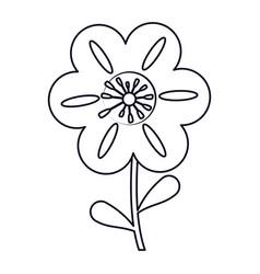 Petunia flower decoration line vector