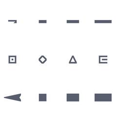 Set of decorative border frames vector