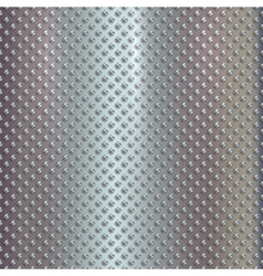 silver grille on steel background vector image