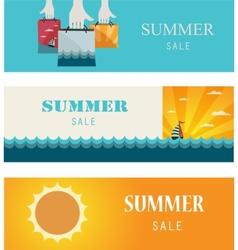 Summer Sale Vintage bannerscards vector image vector image