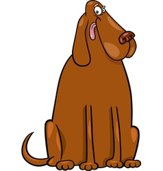 big brown dog cartoon vector image
