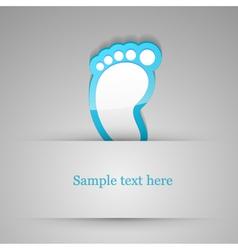 Footprint sticker vector image