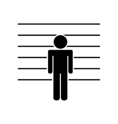 prisoner in signing isolated icon design vector image