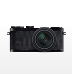 SLR Camera System with lens vector image