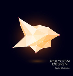 3d low poly model vector image vector image