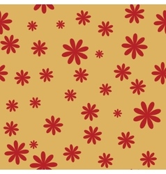flower red seamless pattern 2 vector image vector image