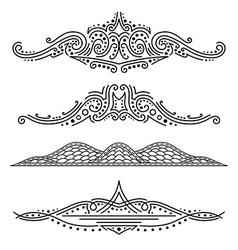 Set of calligraphic elements vector