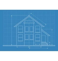 technical drawing house blueprint vector image