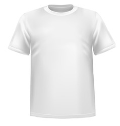 white tshirt vector image vector image