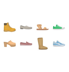 a variety of shoes icons in set collection for vector image