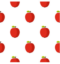 Apple pattern flat vector
