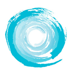 Blue circle from brushstrokes element vector