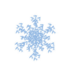 blue grainy sowflake vector image