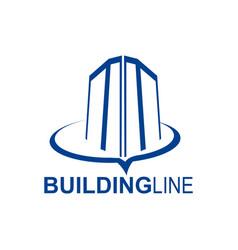building line logo concept design template vector image