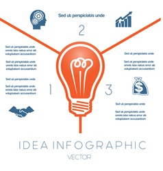 Business concept light bulb infographic 3 vector