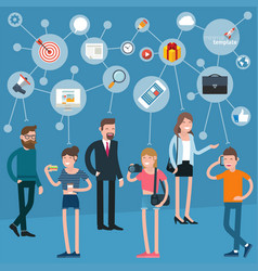Business teamwork infographics vector