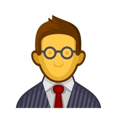 Businessman or Programmer Avatar Profile Userpic vector image vector image