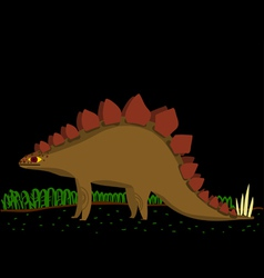 cartoon stegosaurus vector image