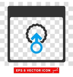 Cell penetration calendar page eps icon vector