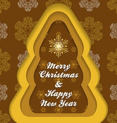 Christmas new year postcard template vector image