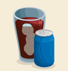 Cola soda icon vector