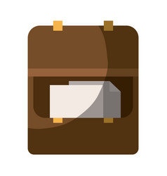 Colorful silhouette of opened executive briefcase vector