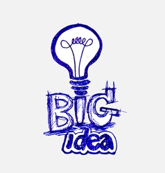 Concept of big idea inspired bulb vector image